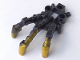 Part No: 53562pb02  Name: Bionicle Foot Piraka Clawed with Pearl Gold Talons