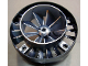 Part No: 53983pb01  Name: Engine, Very Large Turbine, with Pearl Light Gray Marbled Center