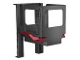 Part No: 54006c01  Name: Duplo Forklift Cabin with Dark Red Mudguards and Forklift Rails (Sumsy)