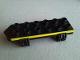 Part No: 54007pb01  Name: Duplo Car Base 2 x 6 with Yellow Stripe Pattern