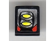 Part No: 54200pb057  Name: Slope 30 1 x 1 x 2/3 with Yellow and Silver Front Lights Pattern (Sticker) - Set 8899