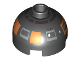 Part No: 553px5  Name: Brick, Round 2 x 2 Dome Top with Silver and Copper Pattern (R2-D5)