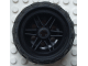 Part No: 56145c04  Name: Wheel 30.4mm D. x 20mm with No Pin Holes and Reinforced Rim with Black Tire 43.2mm D. x 26mm Balloon Small (56145 / 61481)