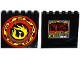 Part No: 59349pb091  Name: Panel 1 x 6 x 5 with Control Panel and Screen on Inside and Yellow Phoenix Flames on Outside Pattern (Stickers) - Set 70750