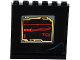 Part No: 59349pb092  Name: Panel 1 x 6 x 5 with Red Katana Sword on Black Screen Pattern on Inside (Sticker) - Set 70750