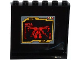 Part No: 59349pb093  Name: Panel 1 x 6 x 5 with Red Ninjago ElectroMech on Black Screen Pattern on Inside (Sticker) - Set 70750