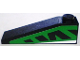 Part No: 60477pb001L  Name: Slope 18 4 x 1 with Green and Black Pattern, Model Left (Sticker) - Set 8898