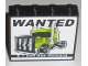 Part No: 60581pb001  Name: Panel 1 x 4 x 3 with Side Supports - Hollow Studs with 'WANTED $1.000.000 Reward' Pattern (Sticker)
