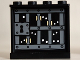 Part No: 60581pb026  Name: Panel 1 x 4 x 3 with Side Supports - Hollow Studs with Prison Bars. White Eyes and Minifigure Hands Pattern on Inside (Sticker) - Set 10237