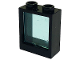 Part No: 60592c02  Name: Window 1 x 2 x 2 Flat Front with Trans-Light Blue Glass