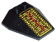 Part No: 6069pb02  Name: Wedge 4 x 4 Triple without Stud Notches with RoboForce Gold and Red Circuitry Pattern