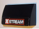 Part No: 61068pb015  Name: Slope, Curved 2 x 4 x 2/3 No Studs without Bottom Tubes with 'XSTREAM' Pattern (Sticker) - Set 8491