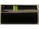 Part No: 61068pb016  Name: Slope, Curved 2 x 4 x 2/3 No Studs without Bottom Tubes with Lime and White Stripe on Black Background Pattern Model Back (Sticker) - Set 8154