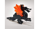 Part No: 6129c04  Name: Dragon, Classic with Trans-Neon Orange Wings - Complete Assembly