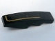 Part No: 61678pb002L  Name: Slope, Curved 4 x 1 No Studs with Gold Stripe Left Pattern (Sticker) - Set 10194