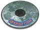 Part No: 6177pb007  Name: Tile, Round 8 x 8 with Moon and 'APOLLO CSM' Pattern (Sticker) - Set 7468