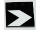 Part No: 6179pb060  Name: Tile, Modified 4 x 4 with Studs on Edge with SW White Landing Arrow Pattern (Sticker) - Set 10188