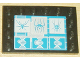 Part No: 6180pb002  Name: Tile, Modified 4 x 6 with Studs on Edges with Spider Pattern (Sticker) - Set 4851