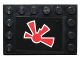 Part No: 6180pb072  Name: Tile, Modified 4 x 6 with Studs on Edges with Red Jek-14 Insignia Pattern (Sticker) - Set 75018