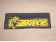 Part No: 6205pb001  Name: Tile, Modified 6 x 16 with Studs on Edges with Roaring Cheetah Head on Yellow Rectangle Pattern (Sticker) - Sets 5599 / 5600