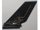 Part No: 6239pb025L  Name: Tail Shuttle with Purple and Gold Geometric Lines Pattern on Left Side (Sticker) - Set 5984