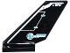 Part No: 6239pb049L  Name: Tail Shuttle with Rudder and Silver and Medium Azure Circuitry Pattern on Left Side (Sticker) - Set 70170