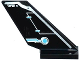 Part No: 6239pb049R  Name: Tail Shuttle with Rudder and Silver and Medium Azure Circuitry Pattern on Right Side (Sticker) - Set 70170