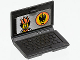 Part No: 62698pb04  Name: Minifigure, Utensil Computer Laptop with Agents Logo Screen Pattern (Sticker) - Set 8634