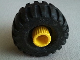 Part No: 6290c01  Name: Duplo, Toolo Wheel with Yellow Connector Pin and Black Tire