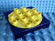 Part No: 6297c01  Name: Duplo, Toolo Turntable 4 x 4 Base with Yellow Top Plate
