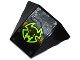 Part No: 64225pb014  Name: Wedge 4 x 3 No Studs with Black and Lime Bat Head Pattern (Sticker) - Set 70132