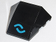Part No: 64225pb021  Name: Wedge 4 x 3 No Studs with Two Blue Bows Pattern (Sticker) - Set 70611