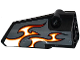 Part No: 64391pb024  Name: Technic, Panel Fairing # 4 Small Smooth Long, Side B with Red, Orange and White Flames on Dark Bluish Gray Background Pattern (Sticker) - Set 42046