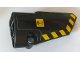 Part No: 64391pb047  Name: Technic, Panel Fairing # 4 Small Smooth Long, Side B with Warning Sign and Black and Yellow Danger Stripes Pattern (Sticker) - Set 42082