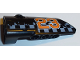 Part No: 64683pb032  Name: Technic, Panel Fairing # 3 Small Smooth Long, Side A with Orange '23' and White Checkered Pattern (Sticker) - Set 42002