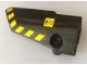 Part No: 64683pb047  Name: Technic, Panel Fairing # 3 Small Smooth Long, Side A with Warning Sign and Black and Yellow Danger Stripes Pattern (Sticker) - Set 42082