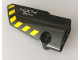 Part No: 64683pb048  Name: Technic, Panel Fairing # 3 Small Smooth Long, Side A with '4X4 8CYL' and Black and Yellow Danger Stripes Pattern (Sticker) - Set 42082