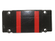 Part No: 64782pb026  Name: Technic, Panel Plate 5 x 11 x 1 with 2 Red Stripes with Corner Cutouts Pattern (Sticker) - Set 8081