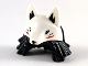 Part No: 65478pb01  Name: Minifigure, Hair Combo, Medium Length Hair with Braids, White Wolf Mask Pattern