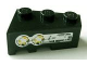 Part No: 6564pb03  Name: Wedge 3 x 2 Right with Yellow Lights Pattern (Sticker) - Set 8479