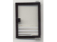 Part No: 73435c01pb04  Name: Door 1 x 4 x 5 Right with Trans-Clear Glass and 5 White Stripes Pattern (Sticker) - Set 6392