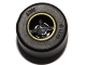 Part No: 74967pb01c01  Name: Wheel  8mm D. x 9mm (for Slicks), Hole Notched for Wheels Holder Pin, Reinforced Back with Yellow Rim Edge Pattern with Black Tire 14mm D. x 9mm Smooth Small Wide Slick (74967pb01 / 30028)