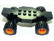 Part No: 85759c01  Name: Vehicle, Base Fast Food Racer 4 x 10 Lifted with Orange Wheels and Black Tires