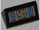 Part No: 85984pb007  Name: Slope 30 1 x 2 x 2/3 with Blue Buttons and Levers Pattern (Sticker) - Set 7287