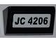 Part No: 85984pb011  Name: Slope 30 1 x 2 x 2/3 with 'JC 4206' Pattern (Sticker) - Set 4206