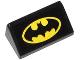 Part No: 85984pb030  Name: Slope 30 1 x 2 x 2/3 with Batman Logo Pattern (Sticker) - Set 76000