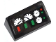 Part No: 85984pb038  Name: Slope 30 1 x 2 x 2/3 with Green and Red Buttons and 4 Gauges Pattern (Sticker) - Set 42008