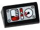 Part No: 85984pb081  Name: Slope 30 1 x 2 x 2/3 with 4 White and Red Gauges and 4 Screws on Silver Background Pattern (Sticker) - Set 42032