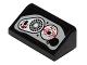 Part No: 85984pb090  Name: Slope 30 1 x 2 x 2/3 with SW Flash Speeder Controls Pattern (Sticker) - Set 75091