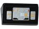 Part No: 85984pb125  Name: Slope 30 1 x 2 x 2/3 with Silver and Bright Light Orange Speedometer Pattern (Sticker) - Set 75909